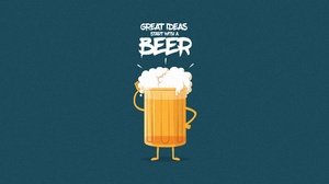 Beer Minimalist 6000x3200 Wallpaper