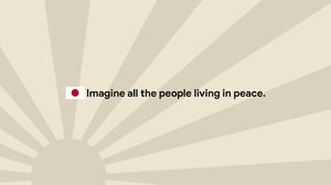 Japan Sunrise Flag Quote John Lennon 3840x2160 Wallpaper