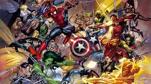 Black Widow Captain America Cheetah Dc Comics Cloak Dagger Human Torch Marvel Comics Invisible Woman 2200x1700 Wallpaper