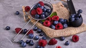 Berry Blueberry Fruit Raspberry Still Life 6720x4480 Wallpaper