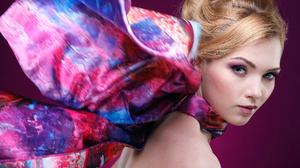 Blonde Blue Eyes Face Girl Lipstick Model Woman 5616x3744 Wallpaper