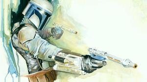 Bounty Hunter Jango Fett Star Wars Watercolor 1280x960 Wallpaper