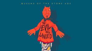 Queens Of The Stone Age Villains Simple Background Blue Background 1920x1080 Wallpaper
