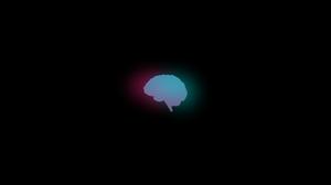 Brain Minimalism Dark Background Black Background Magenta Cyan Anatomy Biology 1637x1023 Wallpaper