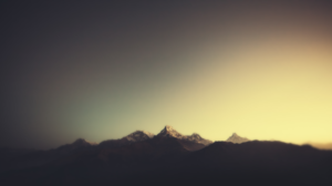 Landscape Mountains Painting Blurred Beige R B 1920x1080 Wallpaper
