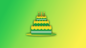 Artistic Birthday Cake Minimalist 4921x3290 Wallpaper