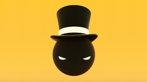 Balls Eyes Simple Background Yellow Background Top Hat 1920x1080 Wallpaper