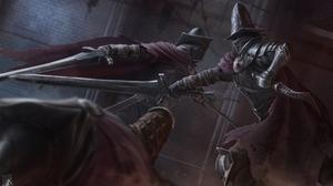 Armor Dagger Dark Souls Fight Sword Warrior 4000x2500 Wallpaper