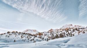 Mountains Snow Fanes Sennes Prags Nature Park 5472x3648 Wallpaper