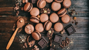 Chocolate Macaron Still Life Sweets 3156x2100 Wallpaper