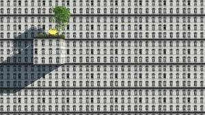 Texture Building 3D Blocks Digital Art Trees CGi 2500x1463 Wallpaper