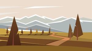 Minimalist Landscape Tree 5688x3162 Wallpaper