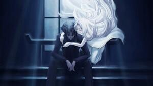 Angel Dark Fate Zero Kiritsugu Emiya Irisviel Von Einzbern Fate Series 2560x1600 Wallpaper