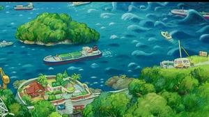 Anime Ponyo 9955x1055 Wallpaper
