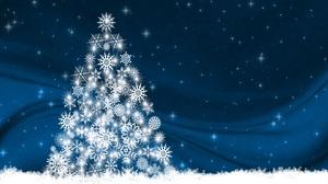 Christmas Christmas Tree Snowflake 4961x3508 Wallpaper