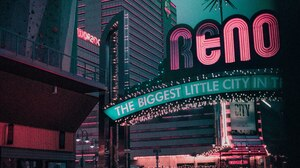 Pink Retrowave Teal City City Lights Neon 4898x3265 Wallpaper