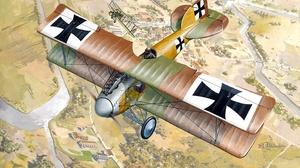 Biplane Albatros D Ii Warplane 2834x1836 wallpaper
