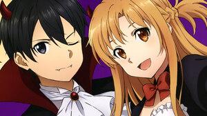 Asuna Yuuki Kazuto Kirigaya Kirito Sword Art Online 2223x1247 wallpaper