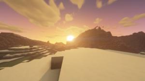 Dawn Snow Minecraft 1920x1080 Wallpaper