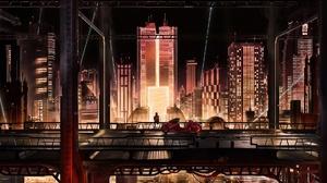 Akira Bike City Cyberpunk Vehicle 1920x1080 Wallpaper