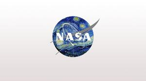 NASA The Starry Night Vincent Van Gogh Logo Crossover Simple Background 1920x1080 Wallpaper