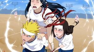 Naruto Shippuuden Uzumaki Naruto Hyuuga Neji Hyuuga Hinata Anime Anime Girls Rock Lee 3200x2260 Wallpaper