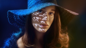 Women Model Hat Looking At Viewer Face 2560x1707 Wallpaper