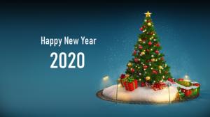 Christmas Tree Happy New Year 1920x1119 Wallpaper
