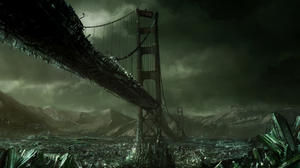 Bridge Crystal Dark Destruction Post Apocalyptic Sci Fi 1920x1200 wallpaper