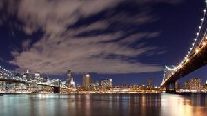 Brooklyn Bridge Manhattan Manhattan Bridge New York 1680x1050 Wallpaper