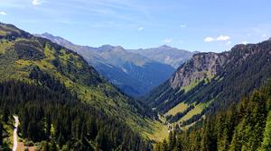 Alps Forest Landscape Mountain Nature 4066x2235 Wallpaper