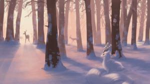 Animal Winter 3098x1830 wallpaper