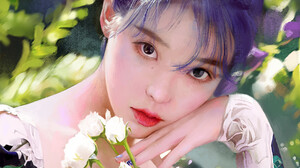 J Won Han Women Artwork Looking At Viewer Long Hair Drawing IU 1920x2296 wallpaper