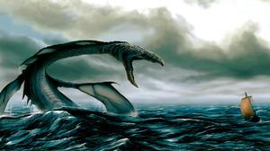 Fantasy Sea Monster 1280x836 Wallpaper
