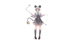 Basket Girl Nazrin Touhou Shoe Short Hair Touhou White Hair 3200x1754 Wallpaper