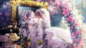 Anime Girls Angel Demon Original Characters Yume Reflection 2282x1692 Wallpaper