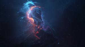 Nebula Space Blue Stars 1920x1200 Wallpaper