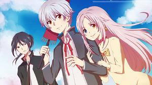 Isana Yashiro Yatogami Kuroh Neko K Project K Project Anime Series Manga Fan Art Digital Art Artwork 1366x966 Wallpaper