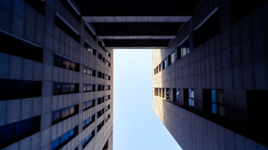 Building Window Sky Worms Eye View Modern Architecture Low Angle 3000x1688 Wallpaper