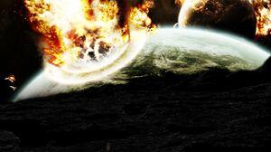 Explosion Planet 1440x900 Wallpaper