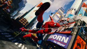 City Marvel Comics New York Peter Parker Spider Man Spider Man Ps4 Superhero Times Square 3840x2160 Wallpaper