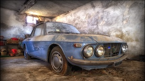 Car Vehicle Old Wreck Blue Cars 3012x1686 Wallpaper