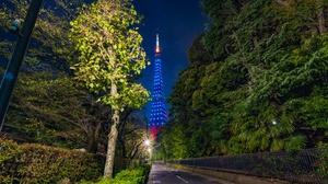 Light Tokyo Tower Tower 7680x4320 Wallpaper