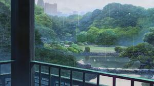 The Garden Of Words Makoto Shinkai Anime Rain 1920x1080 Wallpaper