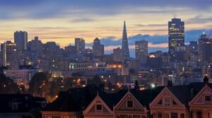 San Francisco Sunrise The Painted Ladies 2560x1600 Wallpaper