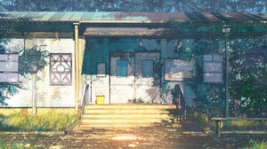 ArseniXC Everlasting Summer Steps House Door Sunlight 1920x1080 Wallpaper