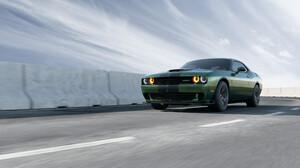 Car Dodge Dodge Challenger Dodge Challenger Srt Green Car Muscle Car Vehicle 3500x2625 Wallpaper