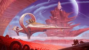 Animal Desert Exploration Spaceship 1920x1080 Wallpaper
