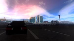 Roblox Pacifico Roblox Game Bmw E30 M3 Parking Lot City Google Overcast Clouds Sunrise 3588x1892 Wallpaper