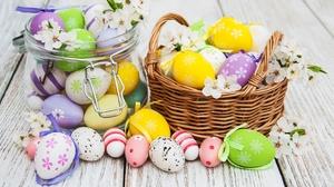 Easter Egg Basket Still Life 3217x2175 Wallpaper